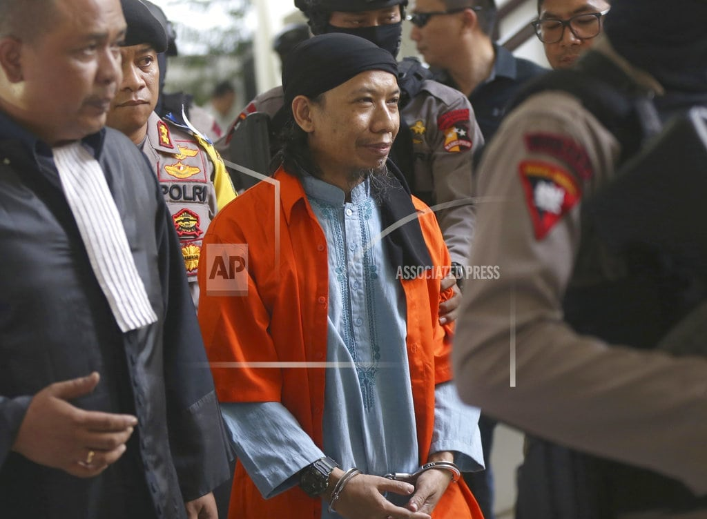 JAKARTA, Indonesia  | Indonesia court sentences cleric behind attacks to death