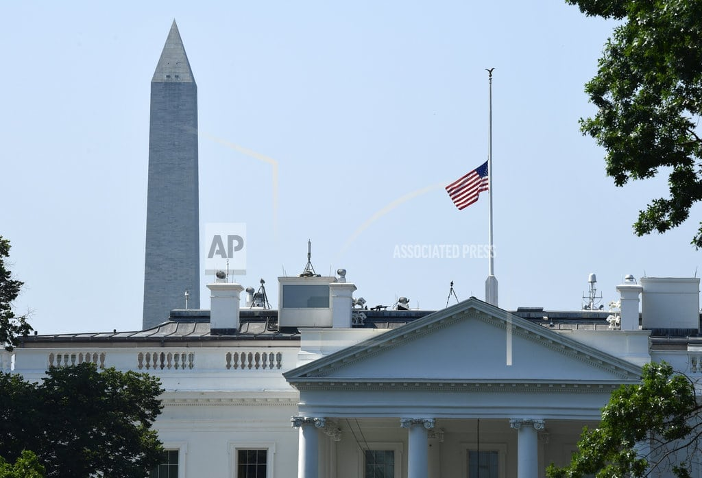 WASHINGTON | Trump orders US flags lowered to honor 5 slain at newspaper