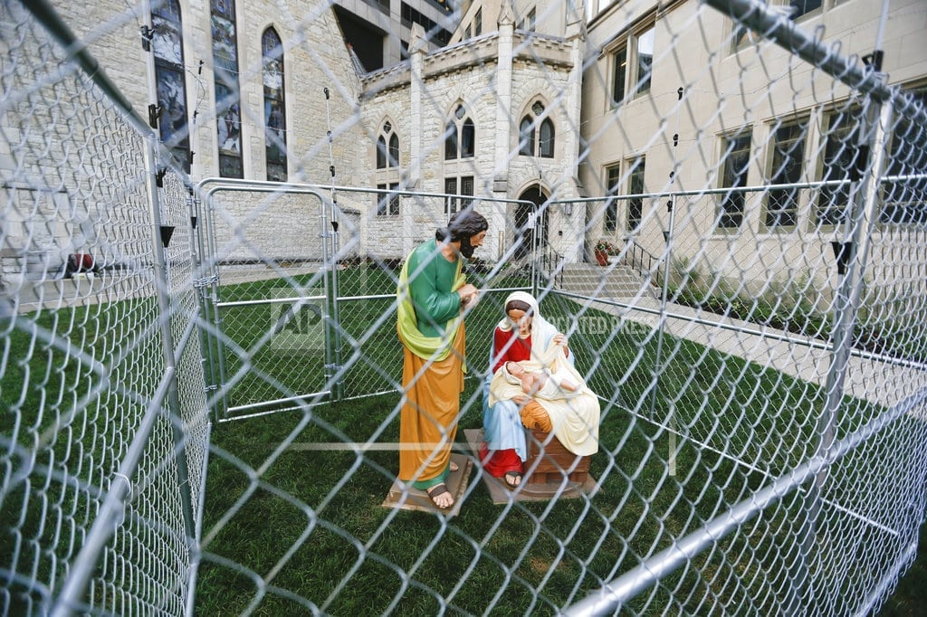 INDIANAPOLIS | Indianapolis church cages Holy Family in immigration protest