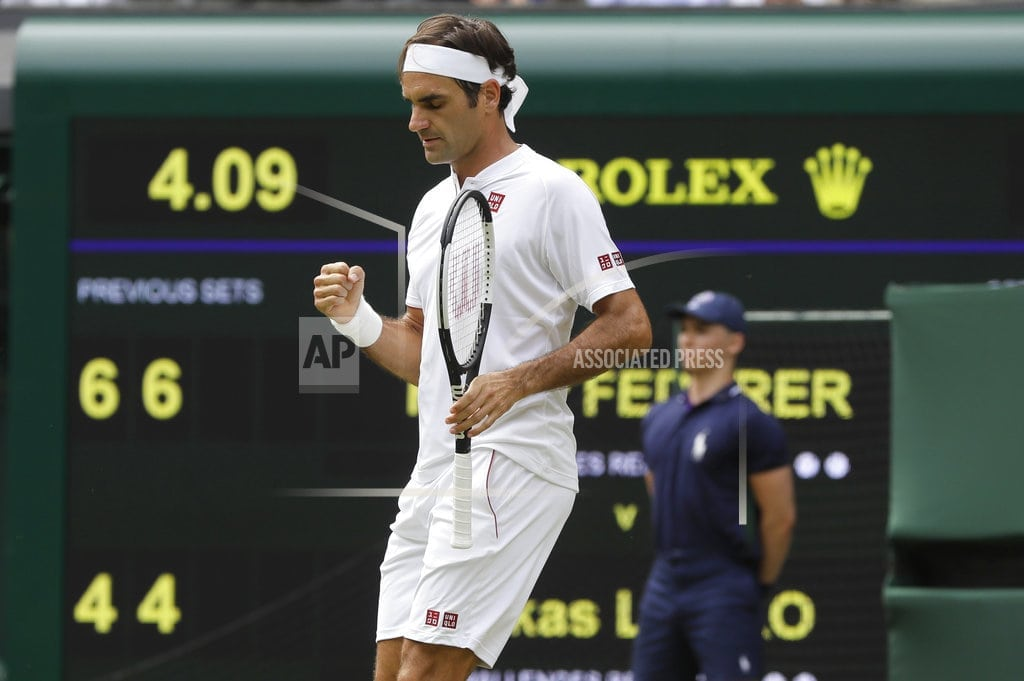 LONDON | 35 service points, 26 sets in a row at Wimbledon for Federer