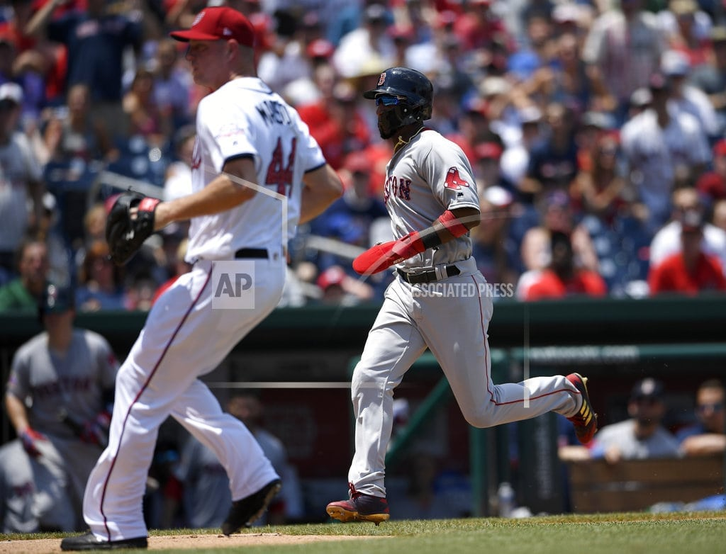 WASHINGTON | Bradley, Red Sox complete sweep, Nationals fall below .500