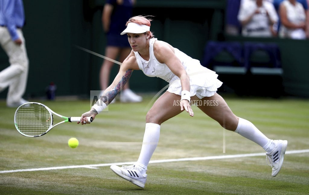 LONDON | The Latest: Mattek-Sands' Wimbledon return ends in quarters