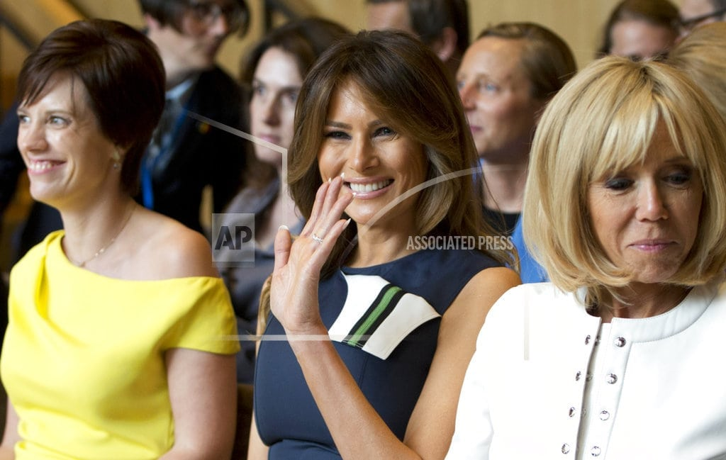 WATERLOO, Belgium | US first lady Melania Trump visits Belgian music academy
