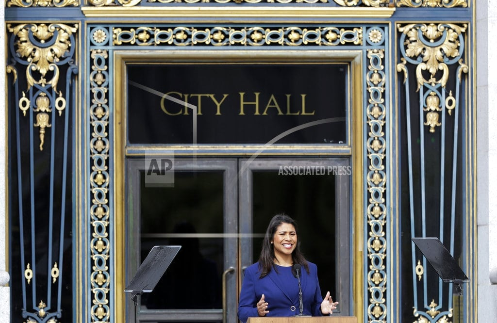SAN FRANCISCO | San Francisco's 1st black female mayor takes oath of office