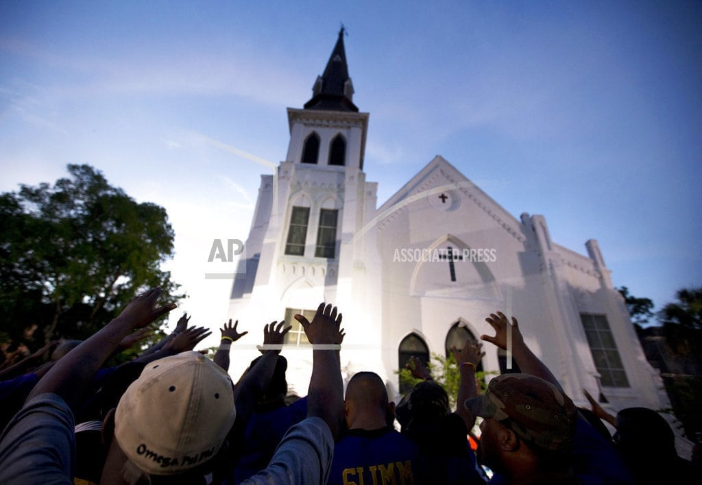 Grief shaped design of Charleston church shooting memorial