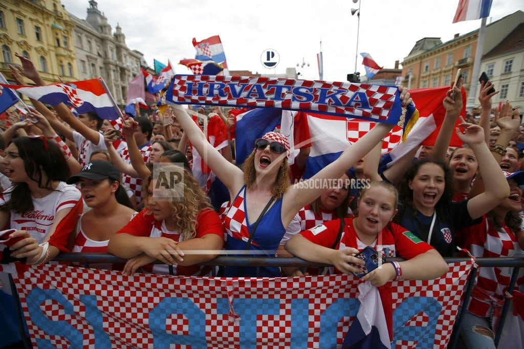 ZAGREB, Croatia | More than 250,000 welcome Croatia home after World Cup final