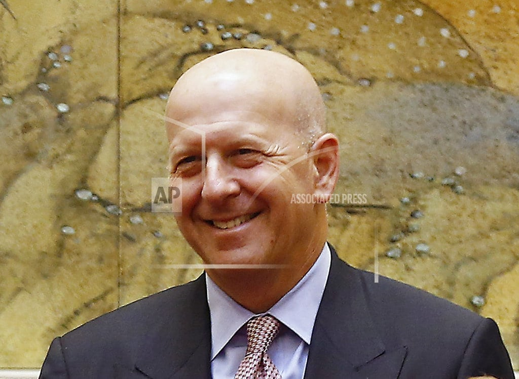 NEW YORK | Goldman's Blankfein to retire as CEO, Solomon to take over