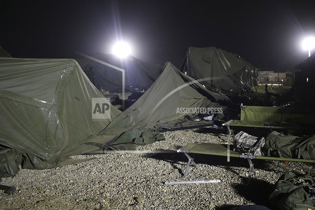 SAN FRANCISCO | Investigators examine why Army helicopters blew down tents