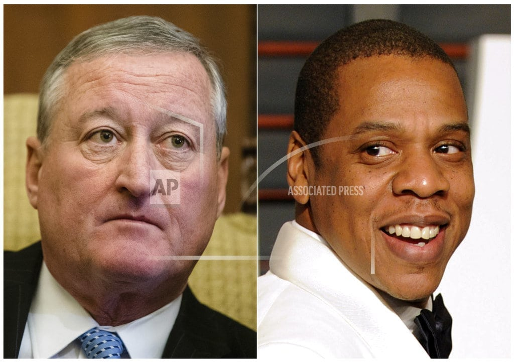 PHILADELPHIA   Made Up in America? Philly mayor tweets photo with Jay-Z