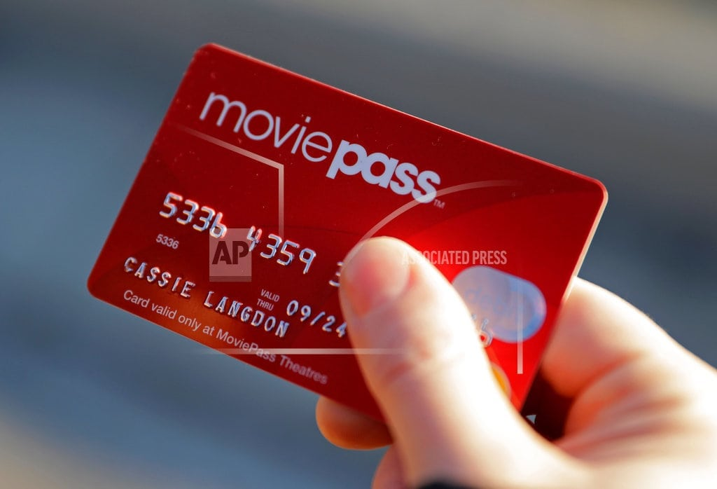NEW YORK   Discount ticket service MoviePass raises prices by 50 pct