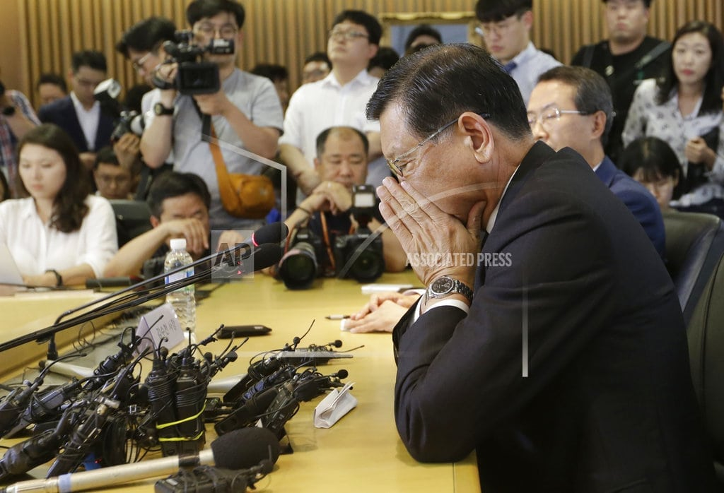 SEOUL, South Korea | Asiana chair apologizes for flights lacking meals, suicide