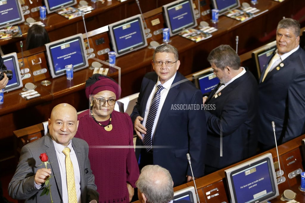 BOGOTA, Colombia | Colombian rebels-turned-politicians sworn into Congress