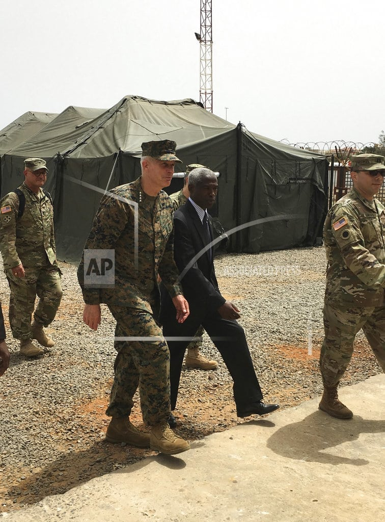 DAKAR, Senegal   US military in Africa says changes made to protect troops
