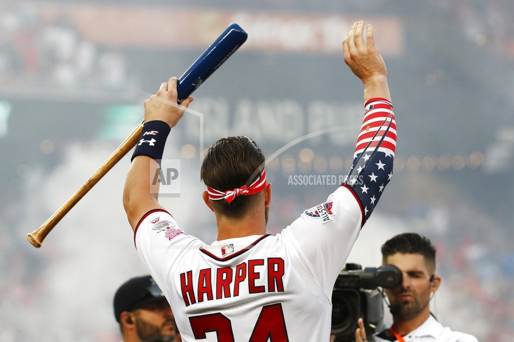 WASHINGTON | The Latest: Harper wins Home Run Derby at Nationals Park