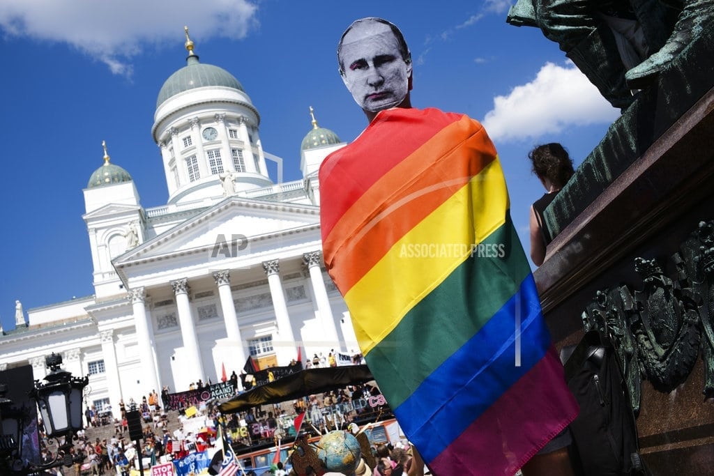 HELSINKI | Helsinki protest focuses on rights before Trump-Putin summit