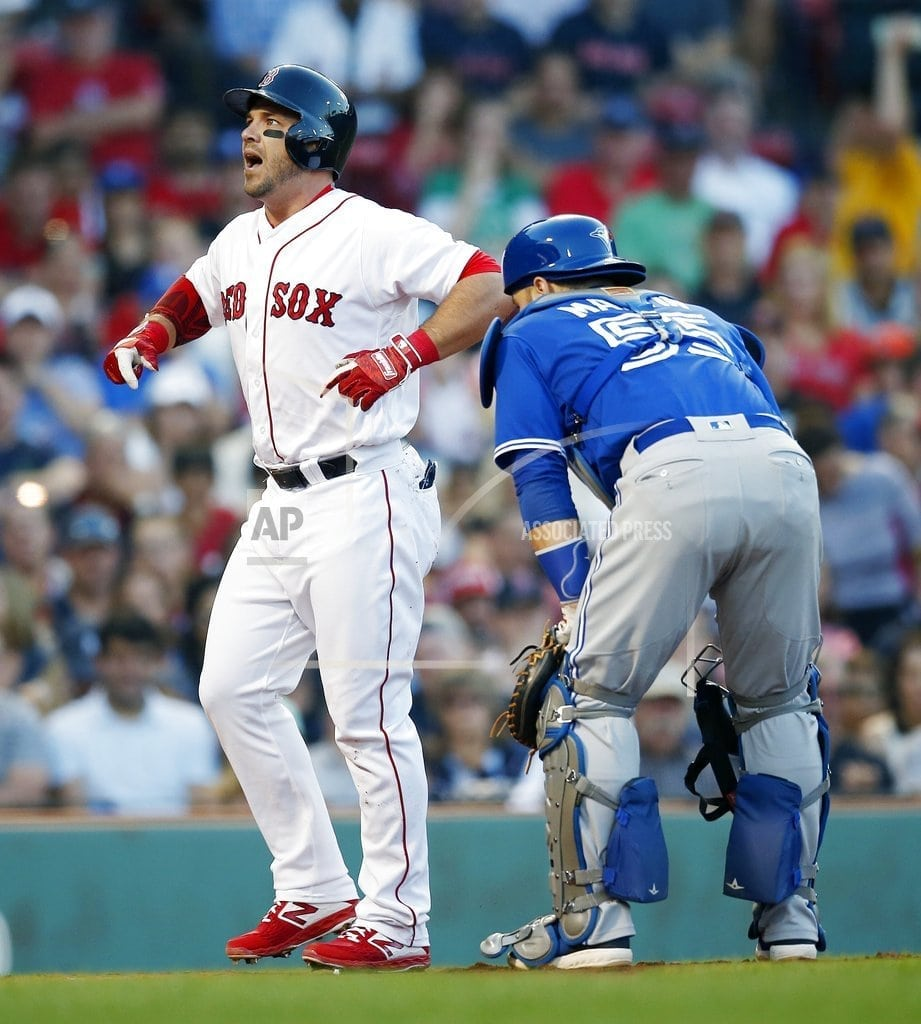 BOSTON   Betts' slam leads Red Sox past Blue Jays 6-4 for 10th in row