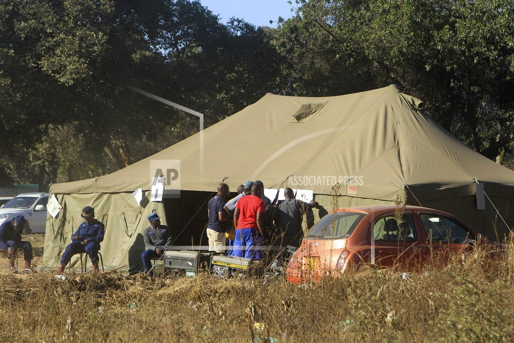 HARARE, Zimbabwe   The Latest: 1st Zimbabwe results expected Tuesday afternoon
