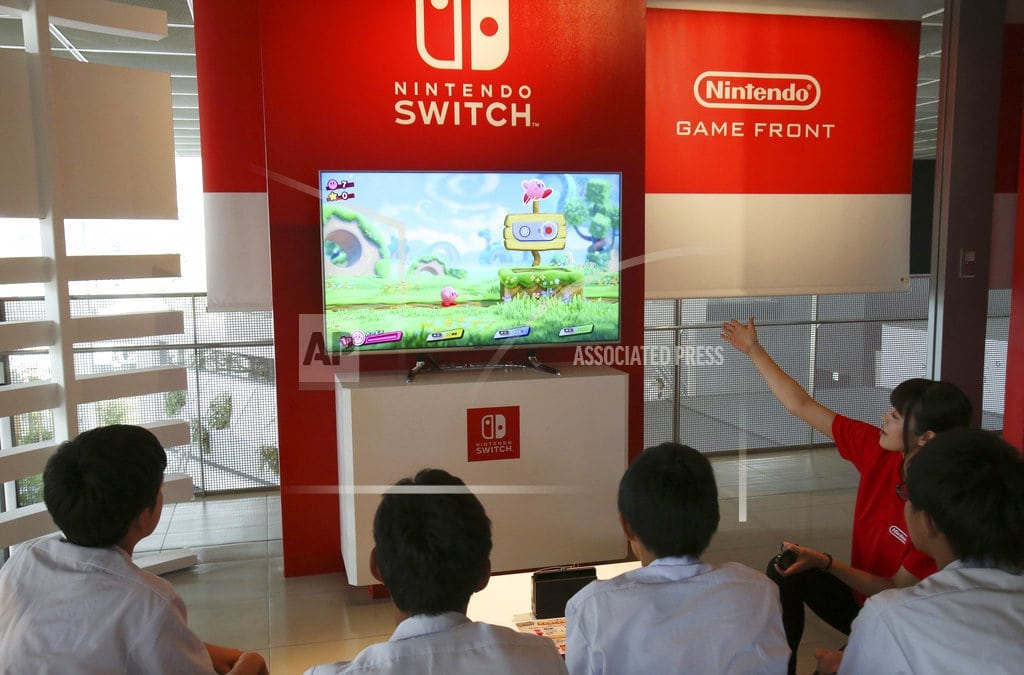 SEOUL, South Korea   Nintendo reports jump in earnings thanks to Switch