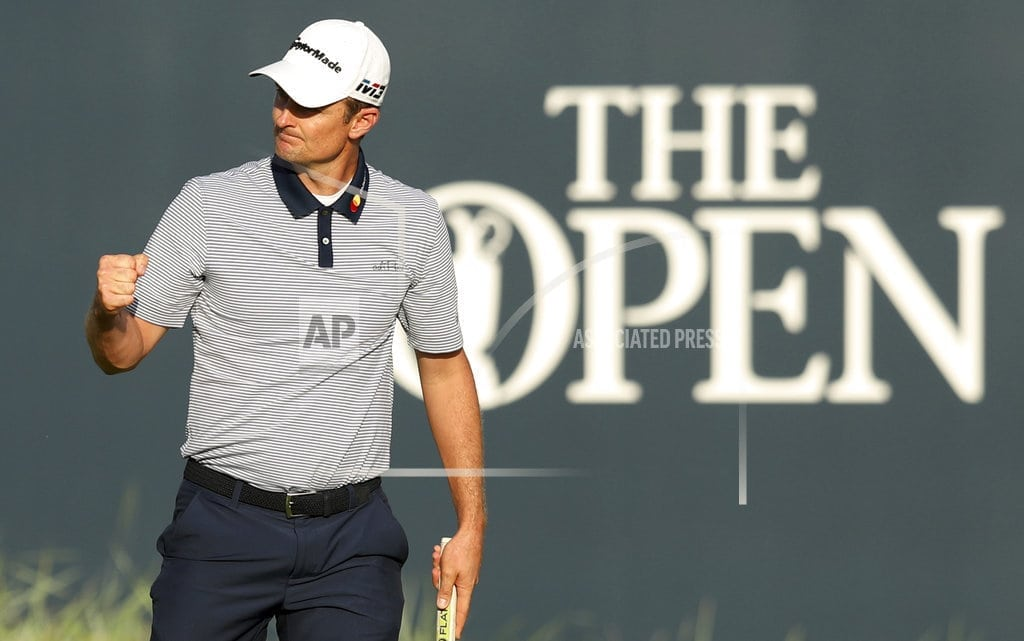 CARNOUSTIE, Scotland   | The Latest: Rose ties Open course record at Carnoustie