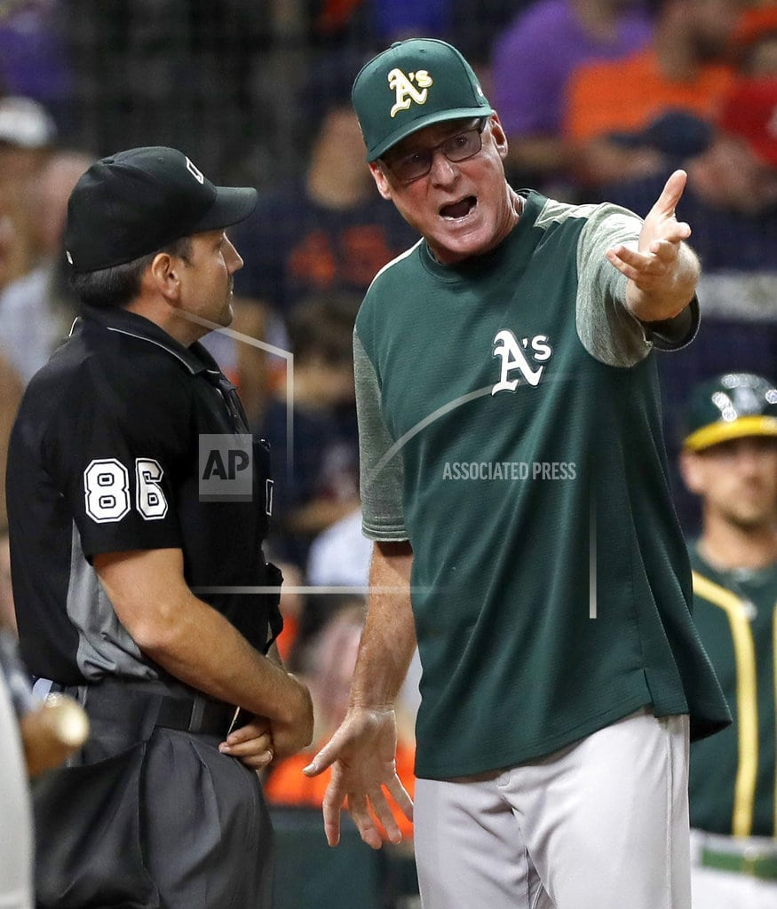 HOUSTON | Astros beat A's 6-5 on bizarre play in 11th inning