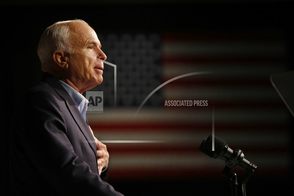WASHINGTON | For McCain, a cross-country farewell from public, presidents
