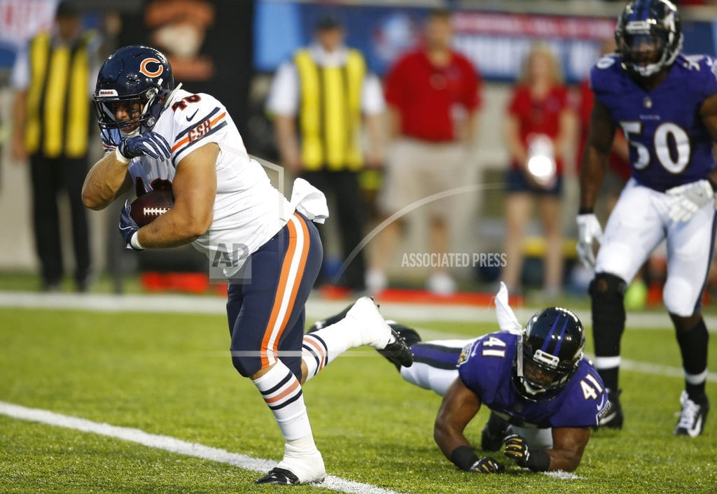 CANTON, Ohio   Ravens and Bears show off D, Baltimore wins 17-16