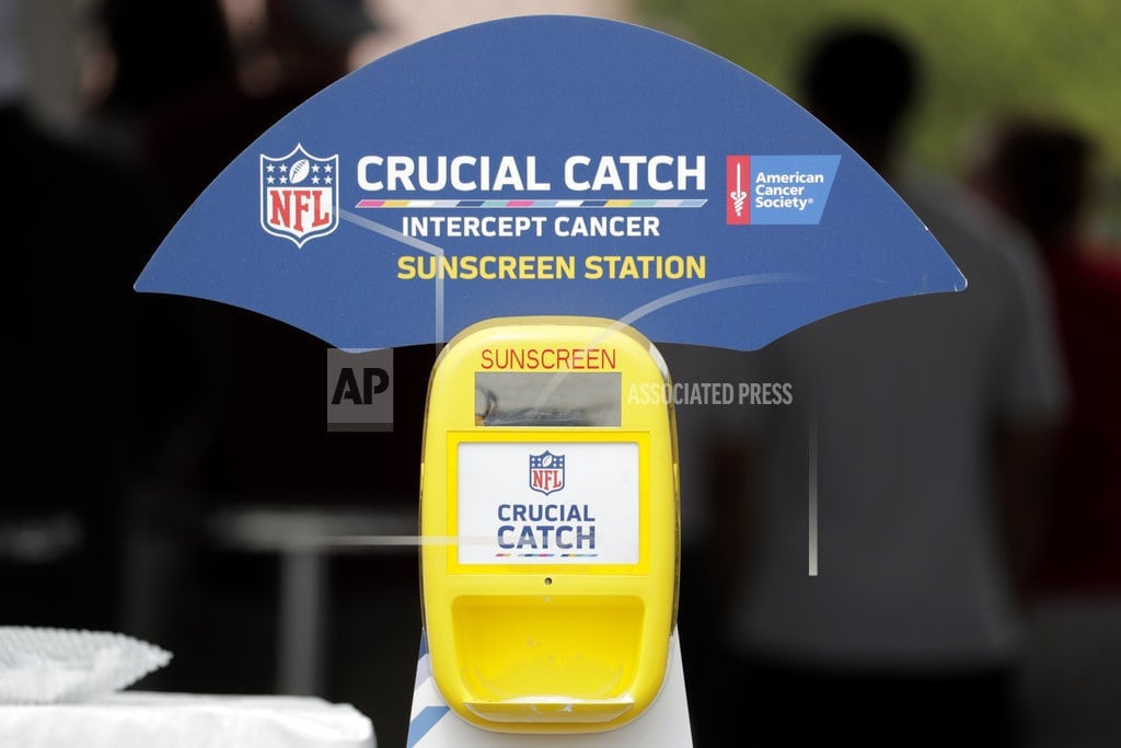 NEW YORK | NFL players, coaches protecting skin on every given sun day