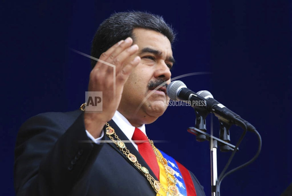 CARACAS, Venezuela |  Maduro opponents warn of crackdown after blast in Venezuela