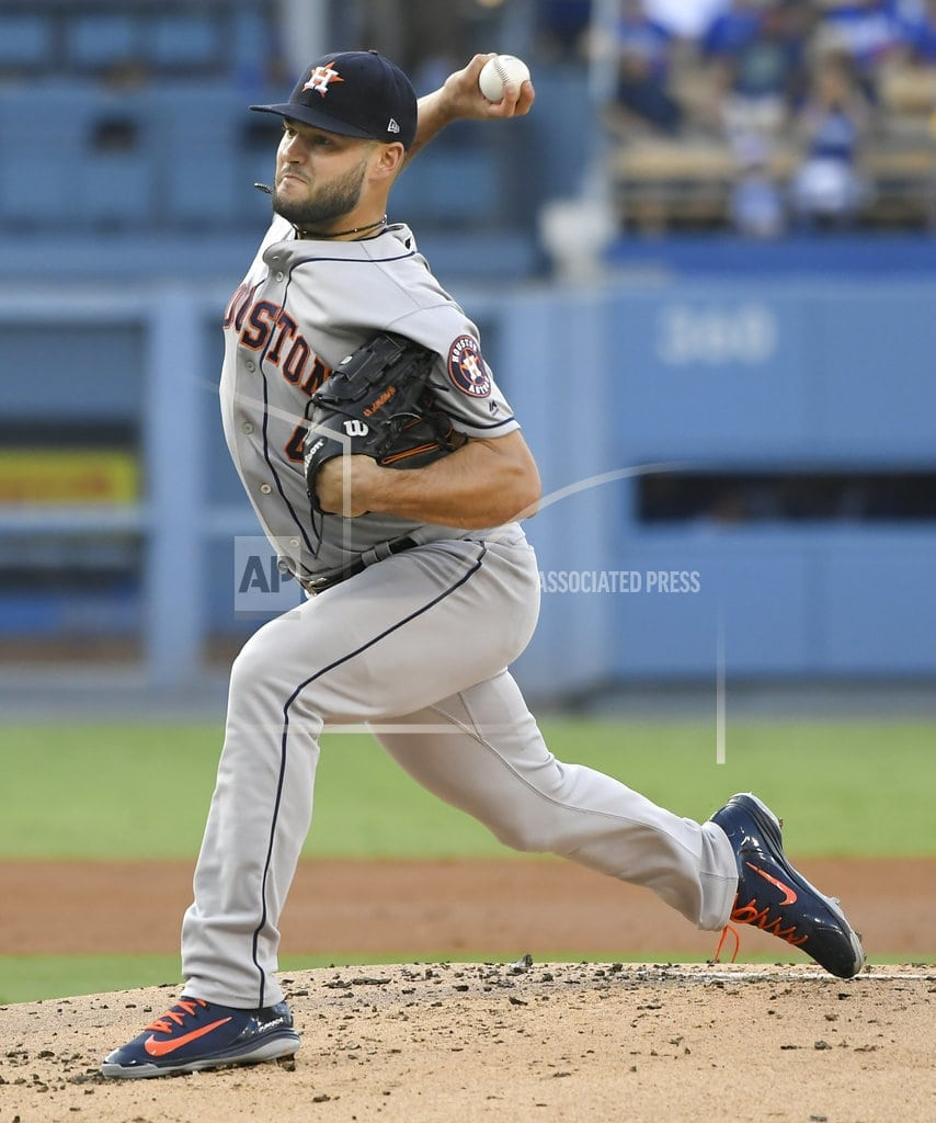 LOS ANGELES   Houston's McCullers leaves game with elbow discomfort