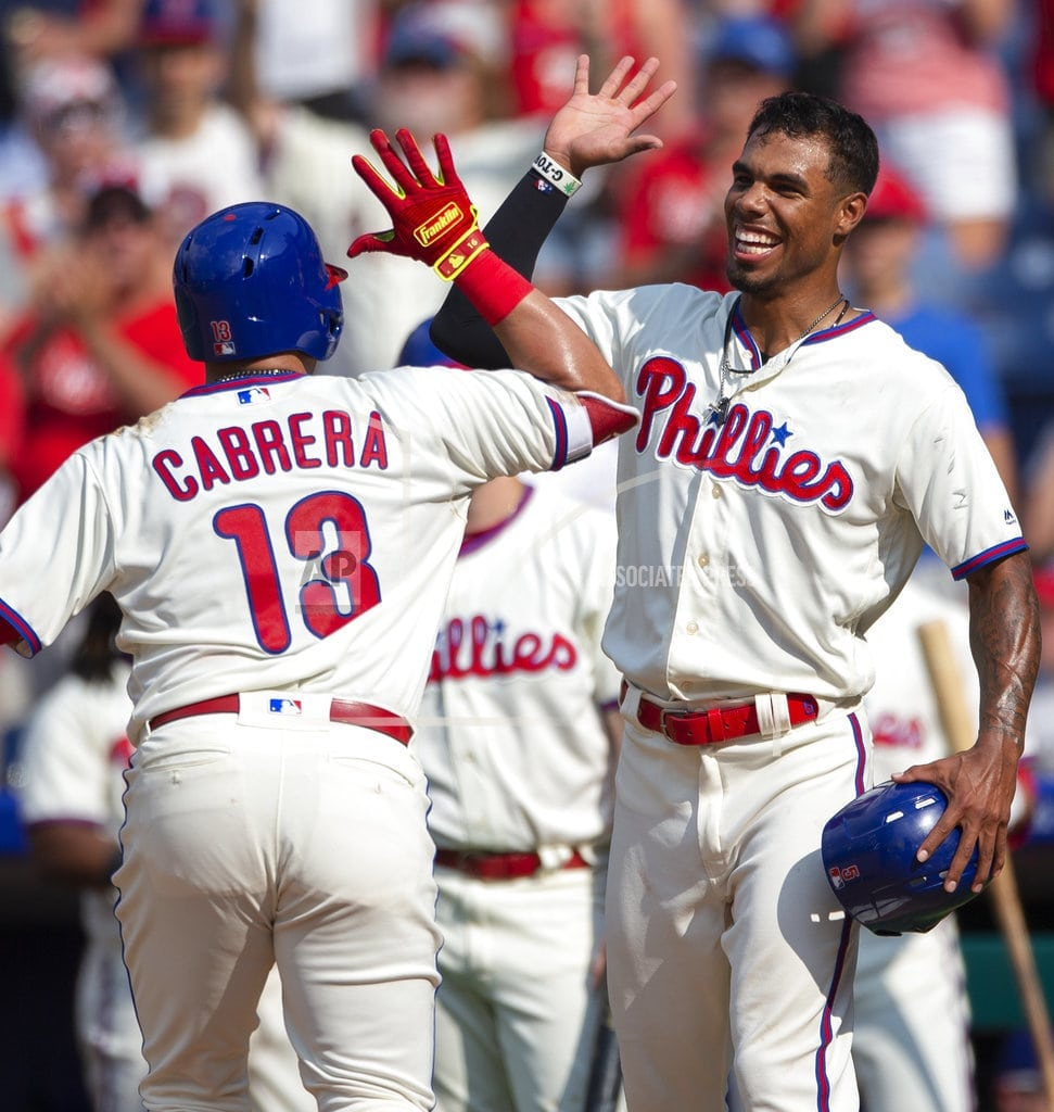 PHILADELPHIA | Cabrera's 2-run HR in 8th lifts Phillies to sweep of Marlins
