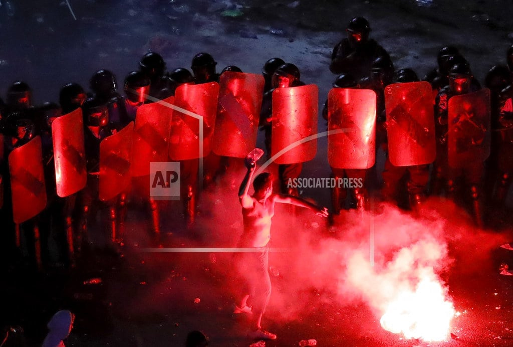 BUCHAREST, Romania   Romania police defend role in protest where hundreds hurt