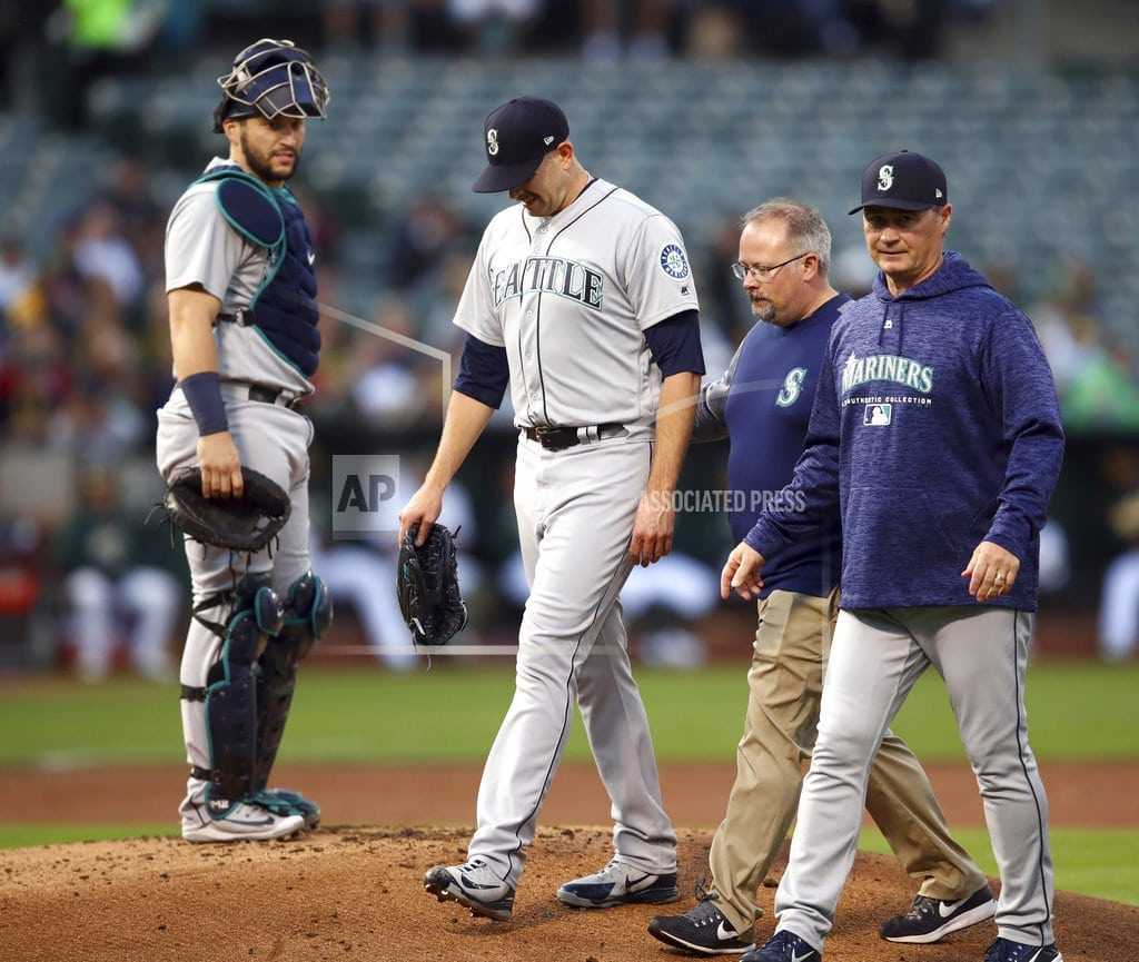 OAKLAND, Calif. | Mariners place ace James Paxton on DL with forearm bruise