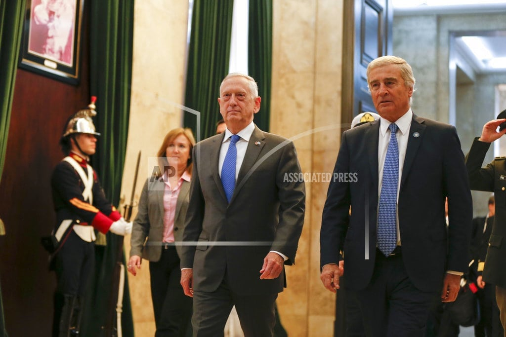 BUENOS AIRES, Argentin | Mattis says US will work more closely with Argentina