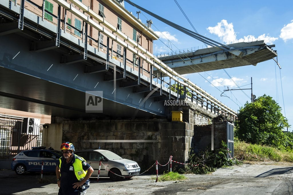 MILAN | The Latest: Truck driver who survived bridge plunge returns