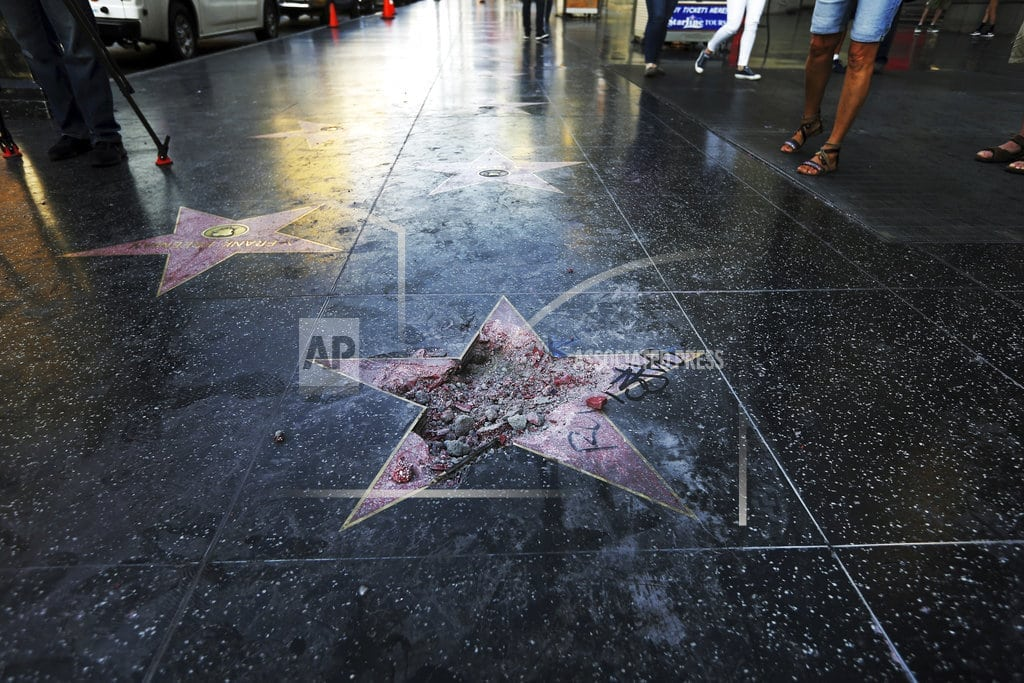 LOS ANGELES | Suspect says smashing Trump's star was 'right and just act'