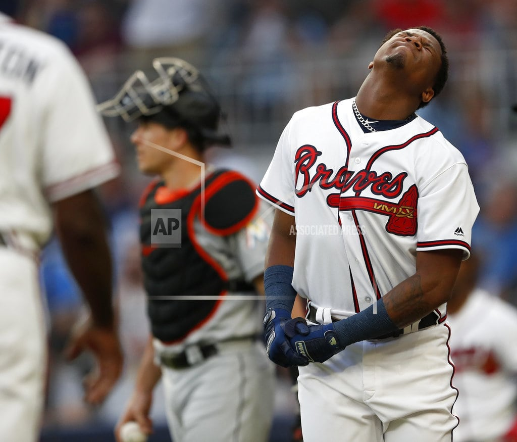 WASHINGTON | Marlins' Urena appeals penalty for hitting Acuna, can play