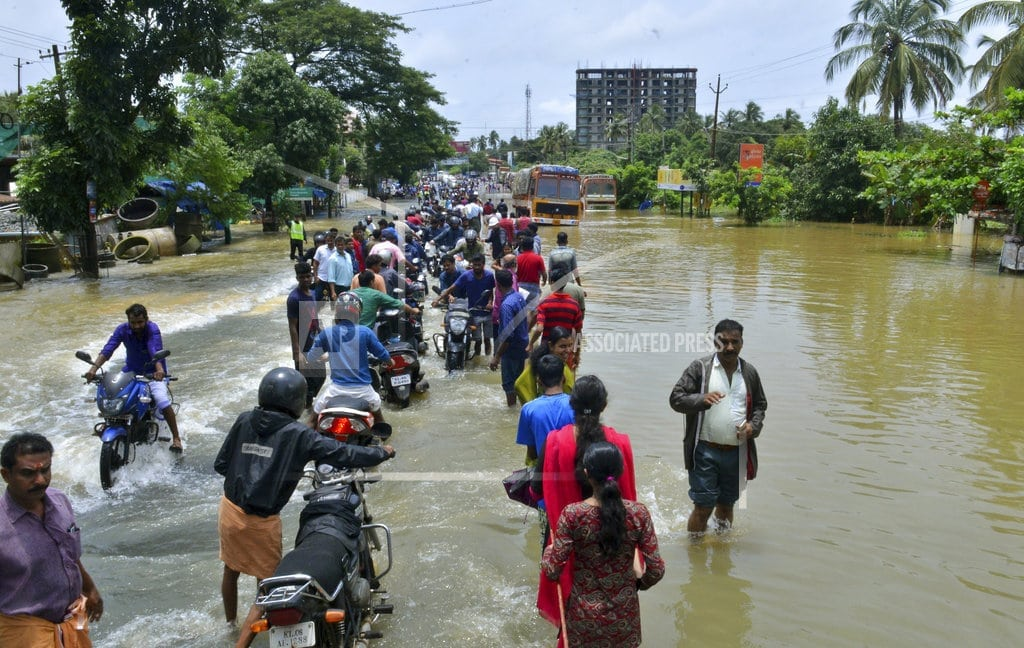 TRIVANDRUM, India | Thousands stranded as floods submerge southern Indian state
