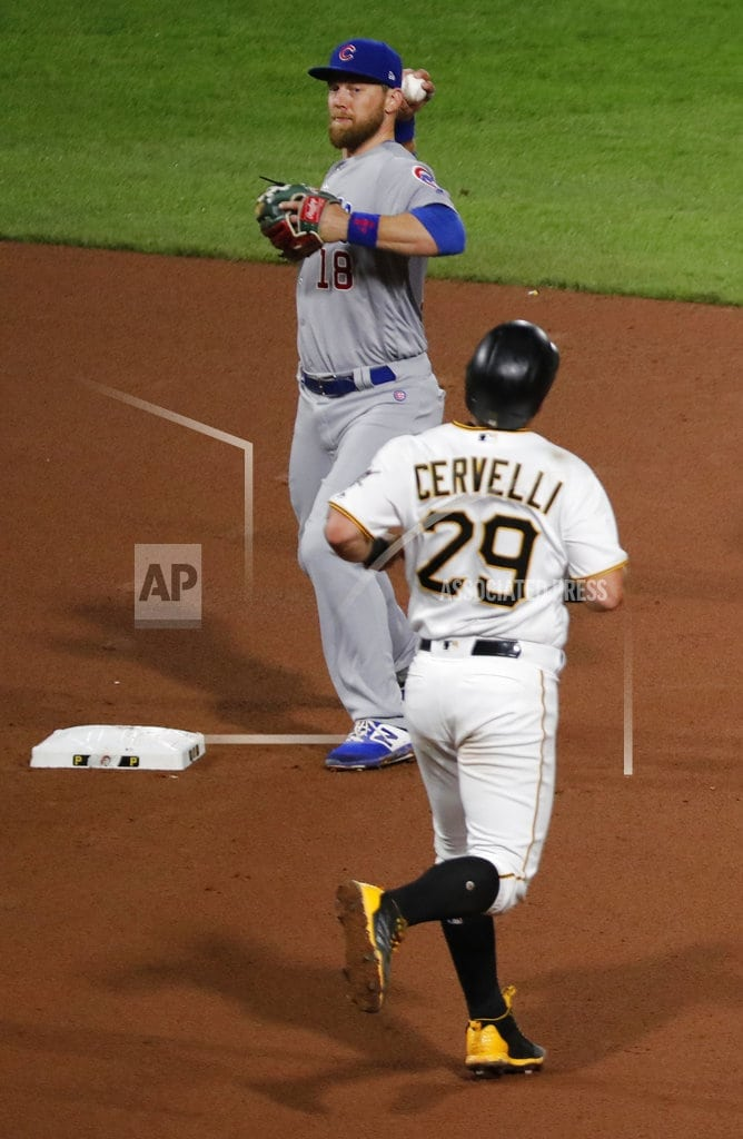PITTSBURGH   Cubs turn record-tying 7 double plays, edge Pirates 1-0