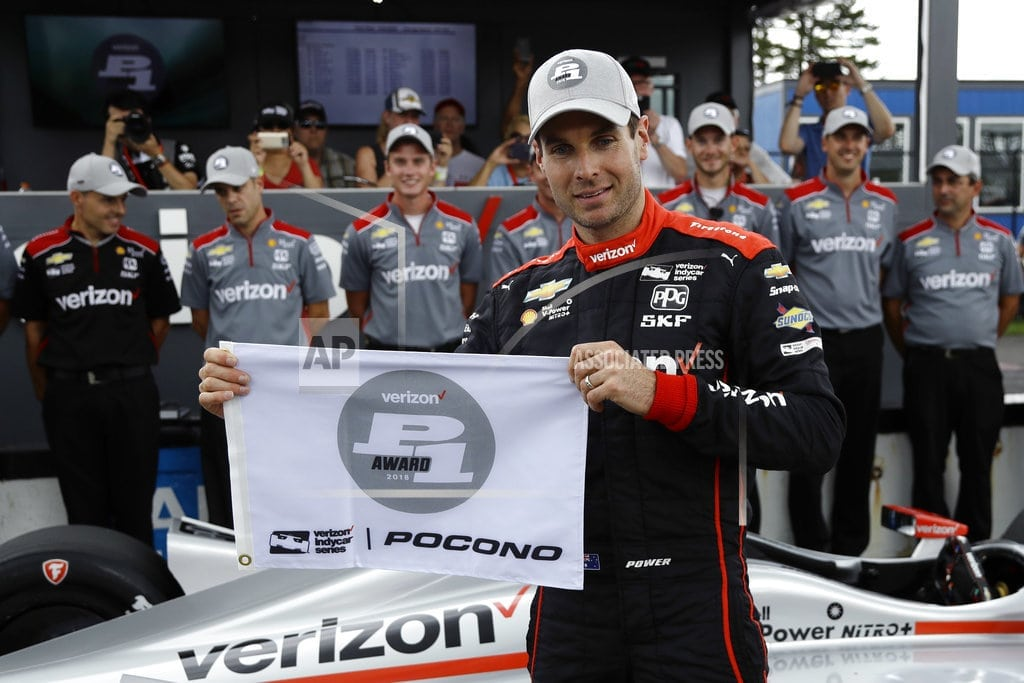 LONG POND, Pa.    The Latest: Pigot wrecked by Graham at start of IndyCar race