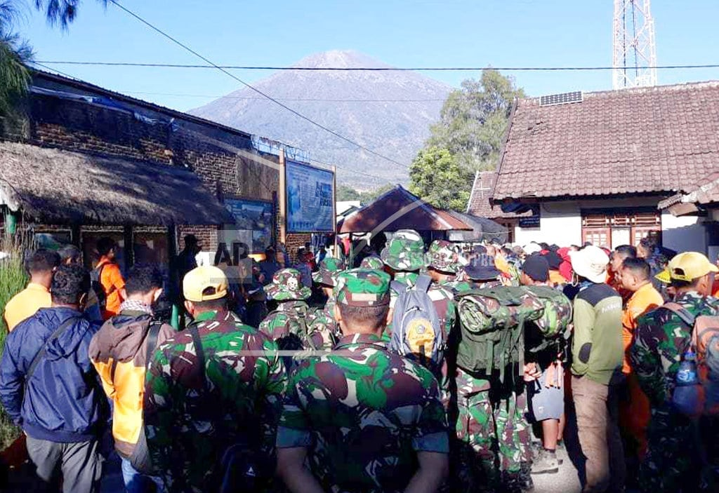 SEMBALUN, Indonesia  | Indonesian island hit by another quake, causing landslides