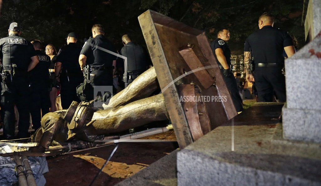 CHAPEL HILL, N.C. | Confederate statue on UNC campus toppled by protesters