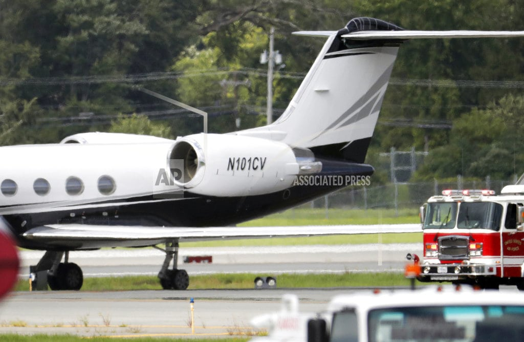 NEWBURGH, N.Y. | Rapper Post Malone's jet lands safely after 2 tires blow