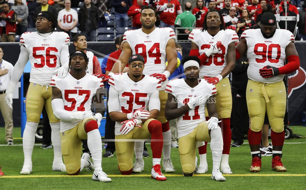 SANTA CLARA, Calif. | 49ers' Harold declines to say why he's standing for anthem