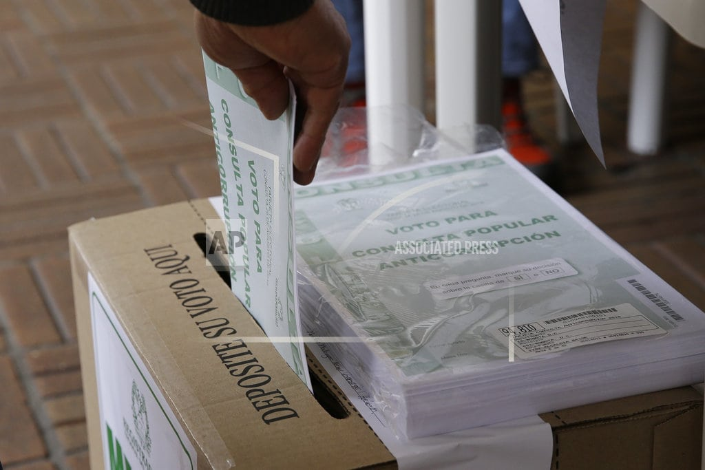 BOGOTA, Colombia | Colombia anti-corruption referendum comes up shy on votes