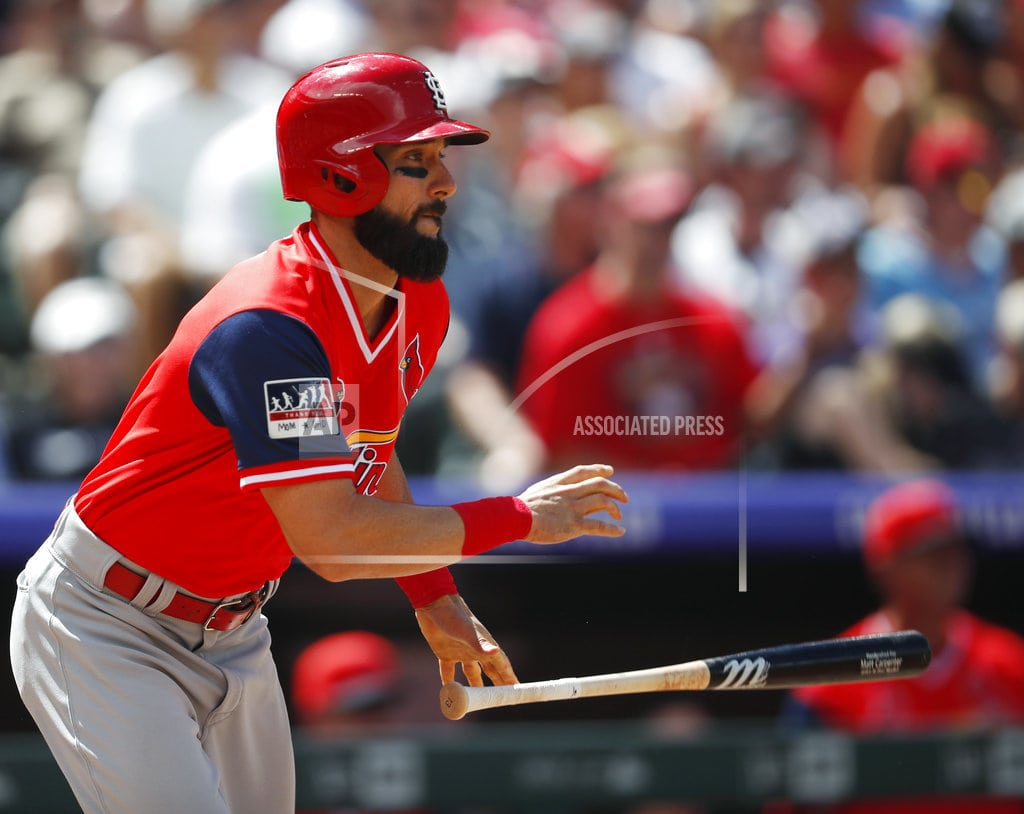DENVER| Carpenter ties Cards record with 4 2Bs in rout of Rockies