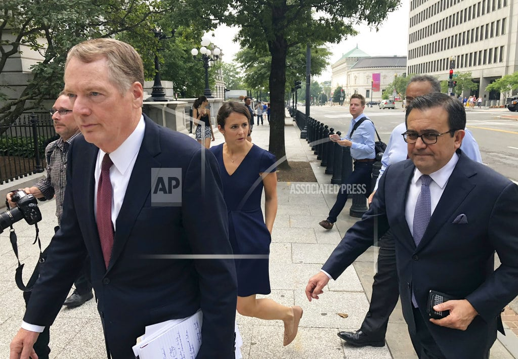 WASHINGTON | US and Mexico near deal that would set path for NAFTA revamp