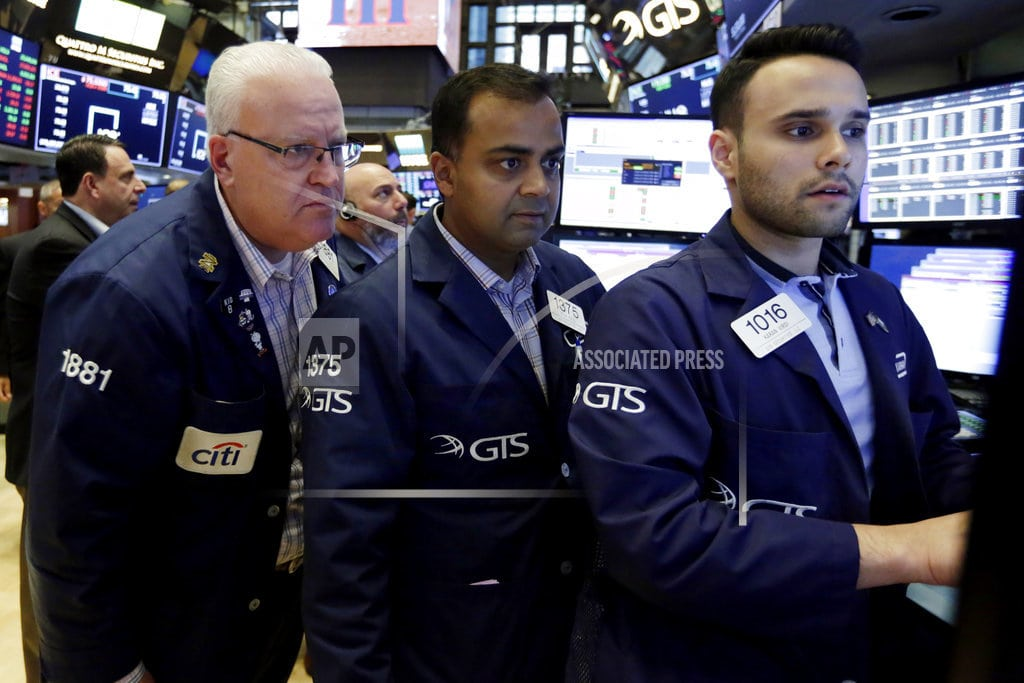 Banks lead US stock indexes mostly higher in afternoon trade