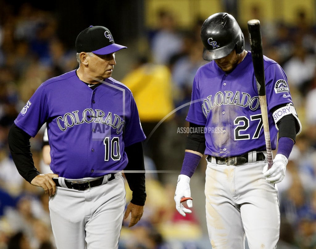 LOS ANGELES | Rockies hope Story can return from sore elbow in a few days