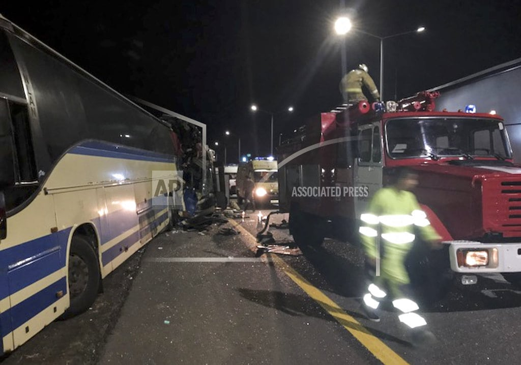 MOSCOW | 5 die in bus collision in Russia; 20 injured