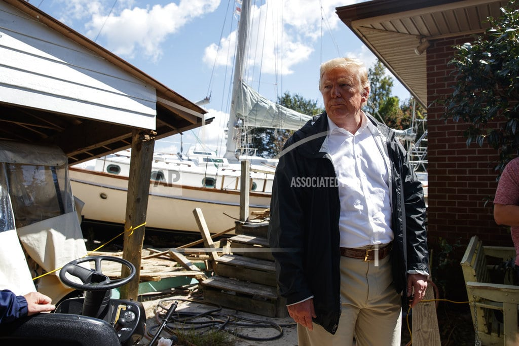 NEW BERN, N.C.   Trump: 'We will be 100 percent' with storm victims